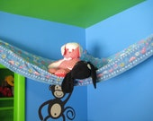 Upcycled from a Barbie Flower Power Bed Sheet Teddy Bed - Size Large with Ruffle
