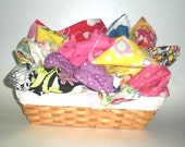 Two pounds designer cotton fabric scraps