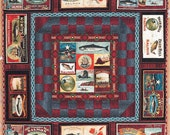 LAST ONE Fons and Porter SaLMON RuN Quilt Kit (Complete), Blue Hill Fabrics, FrEE Pattern Included