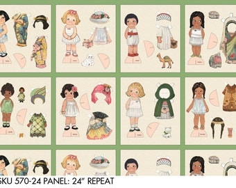 Buy 1, GET 1 ~ Ethnic Paper Dolls by Sibling Arts Studio, 8 Different Dolls w/ Stands and Clothes