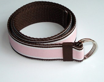 Baby/Toddler/Girl's Adjustable Belt- Pink Racing Stripes