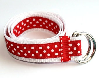 Red & White Polka Dot Toddler/Kid Belt