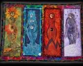 Four Elements Art Quilt