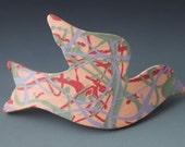 Ceramic Dove Barrette - Dove in Love OOAK