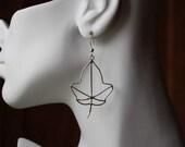Sterling Earrings Maple Leaves