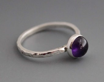 Amethyst sterling Ring February Birthstone - Dream Weaver Size 4.75 US/CANADA