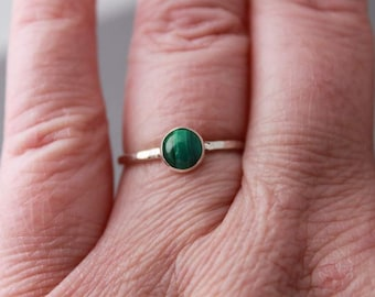Sterling and Malachite Ring, Tranquil Garden, Custom Made For You, Made to Order - PLEASE read item description BEFORE purchasing