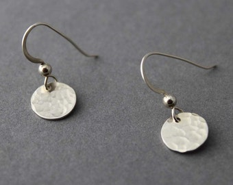 Sterling Small disc earrings
