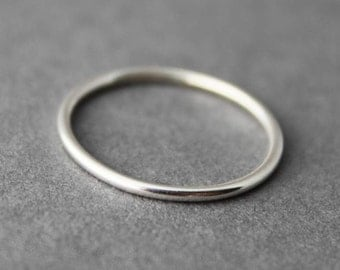 Sterling Ring, Stacking ring, Simple smooth elegant , Custom made for you