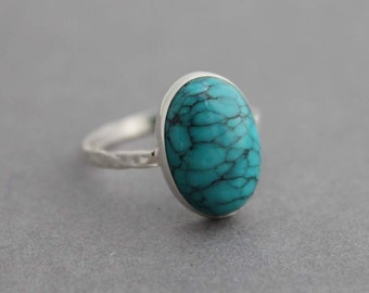 Sterling silver ring, Turquoise Ring, Statement ring, Custom made for you, Made to order