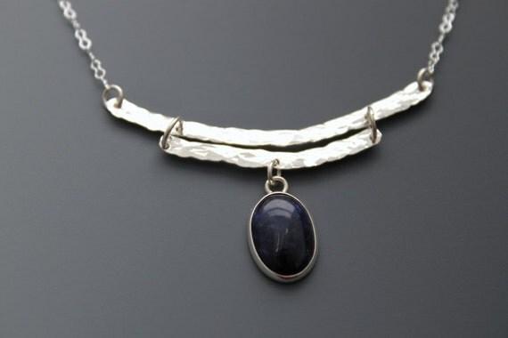 Sterling Silver Necklace - Sodalite  'Double Klondike'