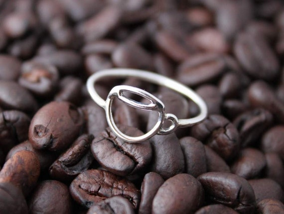 Handmade Sterling Coffee Cup ring - Custom Made for You