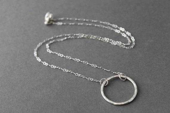 Sterling Necklace - Medium Circle