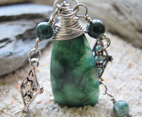 SALE - Moss Agate Necklace