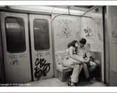 NEW YORK SUBWAY EMBRACE, TREASURY ITEM, Clyde Keller 1976 Photo