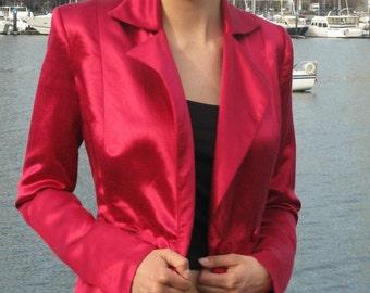 Hot Pink Hemp and Silk Trenchcoat Eco Friendly