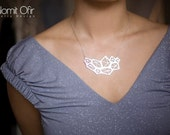 Sale 20% OFF Large Pentagon Necklace, geometric signature necklace, statement necklace