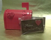 Chocolate love letters, valentine mail box