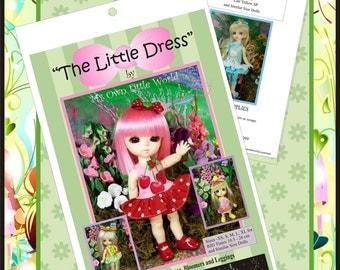PDF Version -The Little Dress - Pattern for BJD Tinies 10.5 - 26cm.