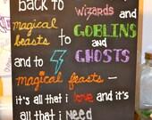 Goin' Back to Hogwarts - Wall Art.
