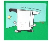 Tofu Never Screams Cotton Mens Tee Medium & Large only - Ready To Ship