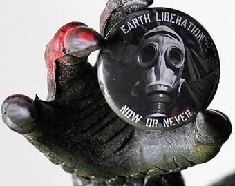 Earth Liberation 1 inch Button