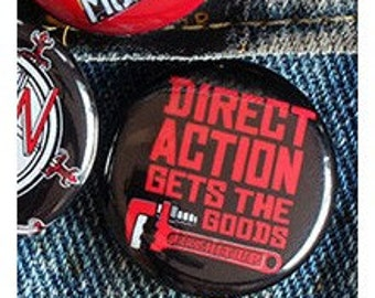 Direct Action Gets The Goods 1 inch button