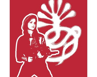 T Shirt - Patty Hearst S.L.A. Red Available in Sizes Small, Medium, Large, XL and XXL