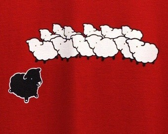 SALE 12 BUCKS Black Sheep Tshirt Available in Medium, Large, XLarge and XXLarge - Ready To Ship