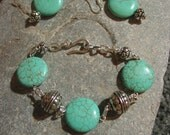 Turquoise Bracelet, Pendant, Earrings set FREE shipping to US