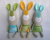 RESERVED Linen bunny boy