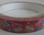 SALE - Cute Pink Japanese Deco Tape With Cakes, Donuts And Sweets