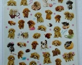 Cute Real Puppy Dog Plastic Photo Stickers From Japan