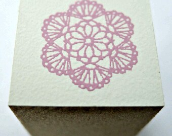 Cute Lace Flower Japanese Rubber Stamp