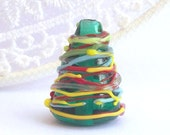 Christmas tree  -Lampwork focal bead-