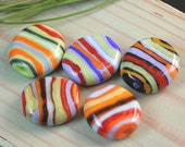 Righine colorate - Lampwork beads set -