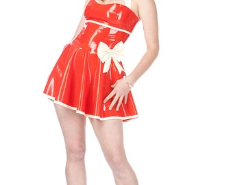 Adala Latex Pin-Up Style Dress Made to Order Your Size & Color