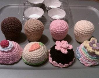PDF Cupcake Play Set Crochet Pattern
