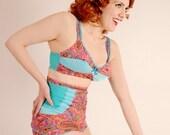 Crazy for Paisley High-Waisted Bikini