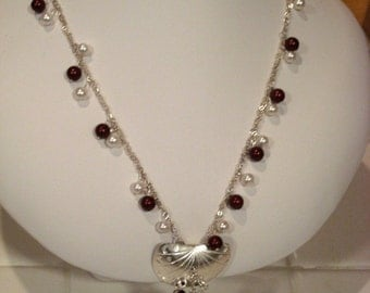 Sterling Silver and Swarovski Pearl Necklace