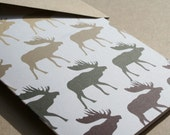 Moose Stationery Woodsy New England Note Cards