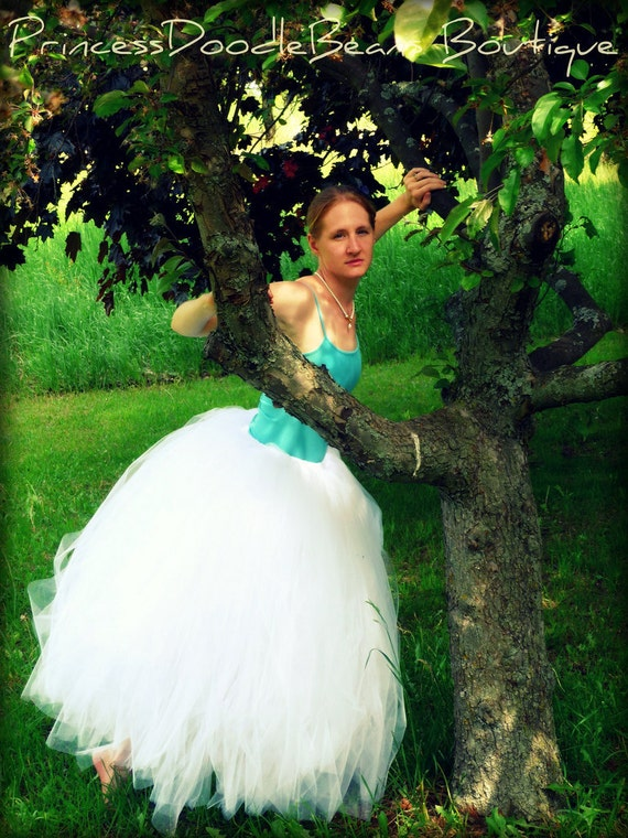Formal Affair Long Bridal Tulle Skirt - Sewn and Super Full Tutu - Bridal Gown Wedding Skirt - choose your colors and length