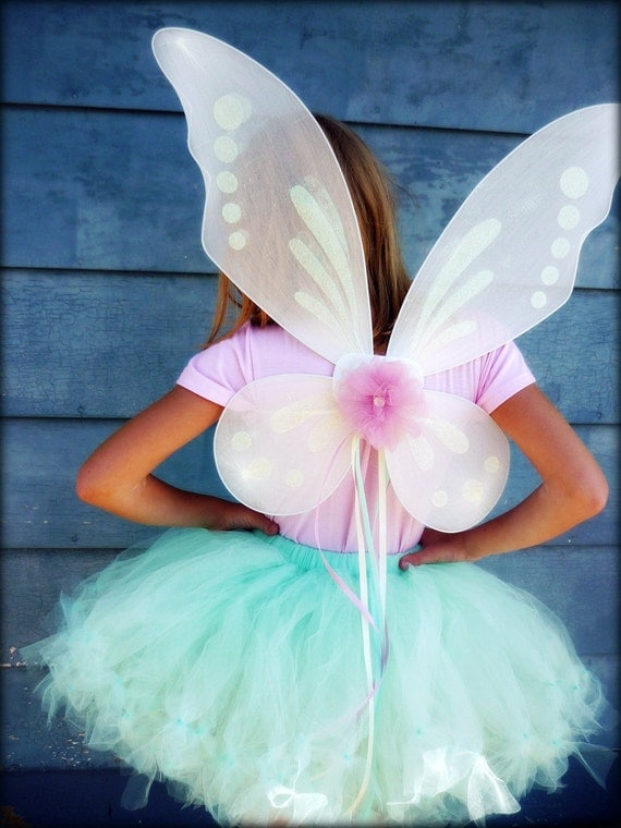 Custom Flora Fairy Wings - Pixie Princess Style - Your choice of 26 colors - for girls, teens, women