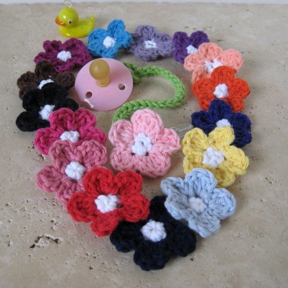 Pick TWO Daisy Pacifier Clips