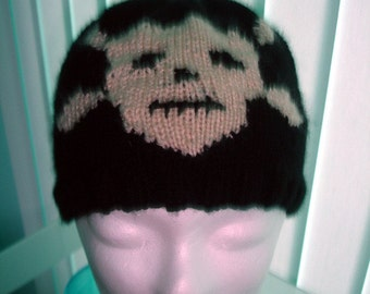 Custom skull and crossbone beanie hat