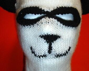 Custom Knit Panda Ski Hat / Mask