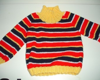 Custom knitted Ernie sweater for Babies - For sizes: Newborn to 12 months
