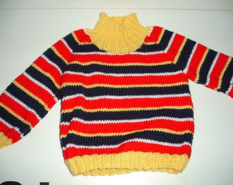 Custom knitted Ernie sweater for toddlers - For sizes 2T-3T