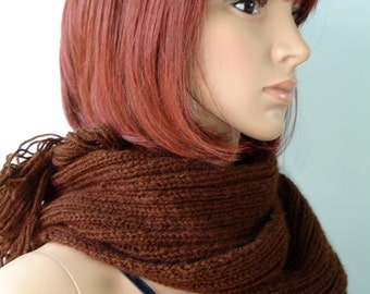 Brown scarf - ready to ship