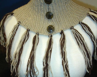 Beige scarflette - ready to ship